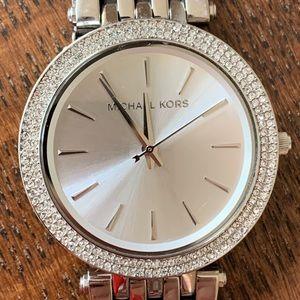 Michael Kors Darci Silver Watch.